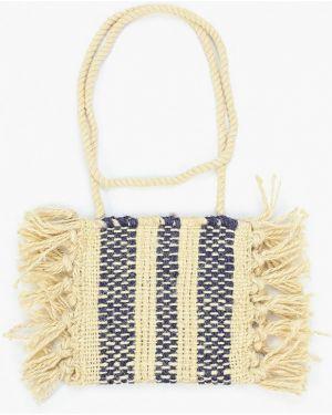 Текстильная бежевая сумка Mango Kids