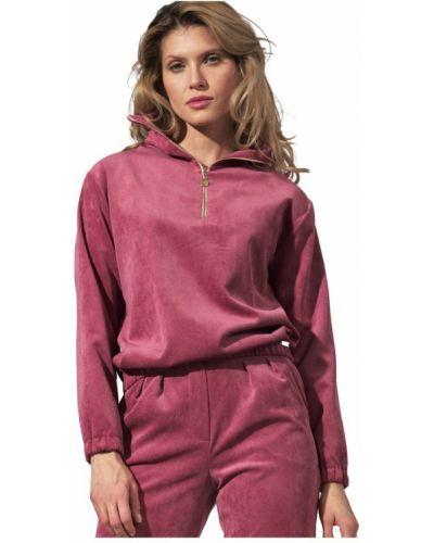 Różowa bluza z kapturem Figl