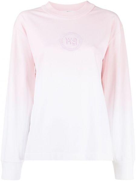 Розовый хлопковый свитшот с вышивкой Alexanderwang.t