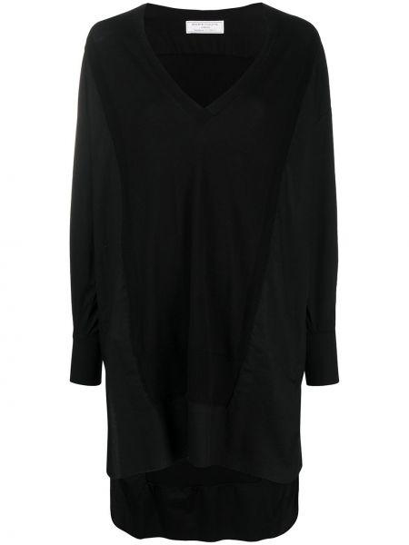С рукавами черное платье макси с бахромой SociÉtÉ Anonyme