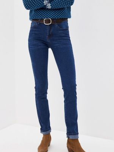 Синие прямые джинсы Vilatte