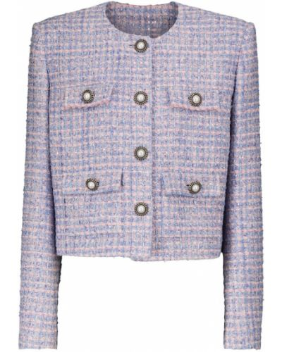 Синяя шерстяная куртка Alessandra Rich