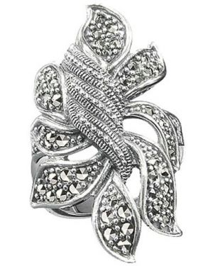 Кольцо из серебра серый марказит