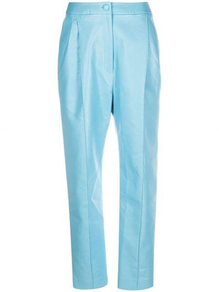 Кожаные плиссированные брюки с высокой посадкой на молнии Matériel