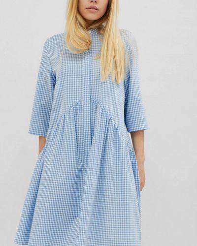 Платье весеннее голубой Cardo