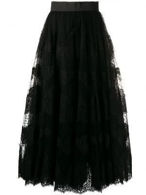 Черная пышная юбка макси из фатина Dolce & Gabbana
