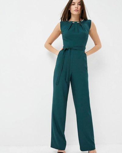 Зеленый брючный комбинезон Zarina