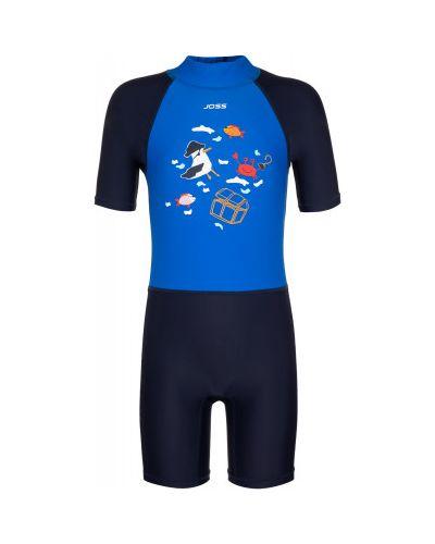 Костюмный синий купальник с шортами Joss