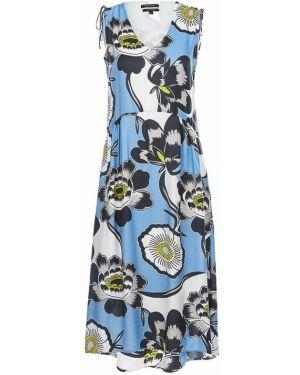 Платье с цветочным принтом шелковое Marc O`polo