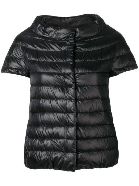 Czarna krótkie szorty pikowana bawełniana Herno