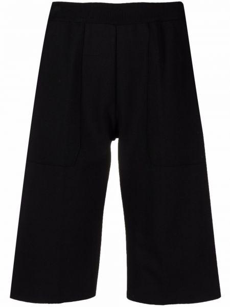 Черные шорты с поясом из вискозы Mrz
