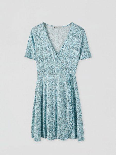 Платье с запахом осеннее Pull&bear