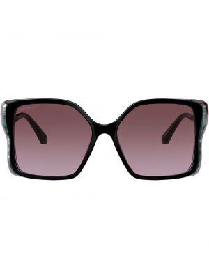 Прямые черные солнцезащитные очки Bvlgari
