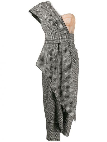Платье миди на молнии в клетку Dolce & Gabbana