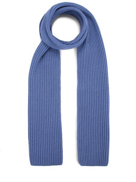 Вязаный кашемировый синий шарф вязаный Malo