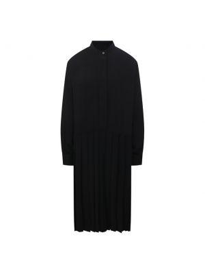 Платье из полиэстера - черное Mm6