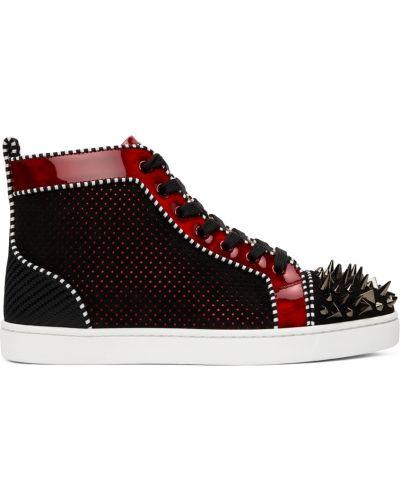 Białe sneakersy z ćwiekami Christian Louboutin