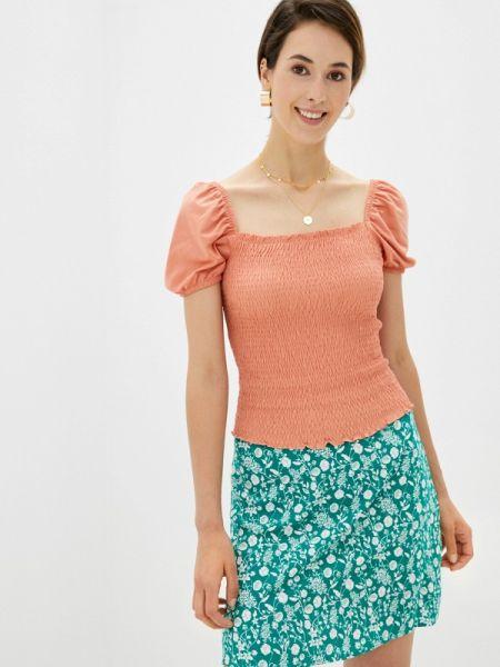 Коралловая блузка с открытыми плечами с открытыми плечами Defacto