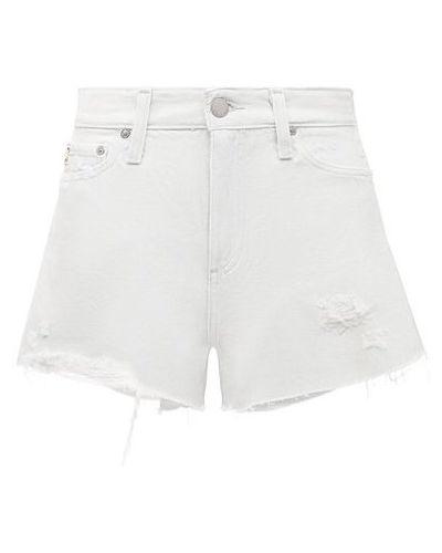 Хлопковые белые джинсовые шорты Ag