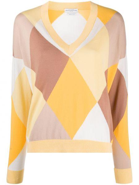 Облегченный длинный свитер с вырезом узкого кроя Ballantyne