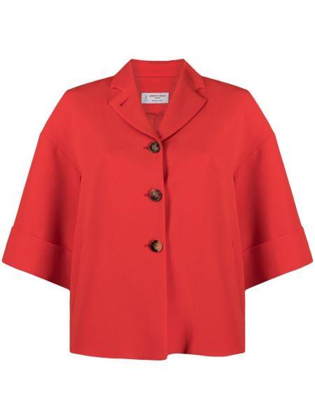 Красный пиджак на пуговицах с отворотом Alberto Biani