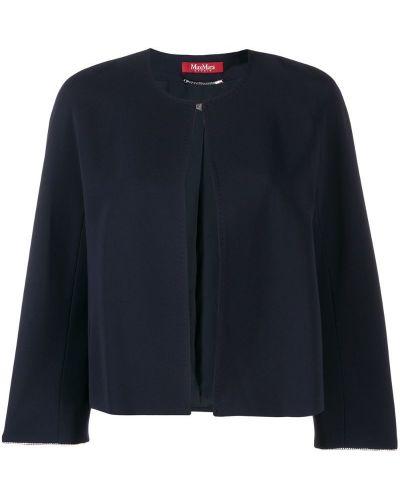Синяя длинная куртка круглая Max Mara Studio