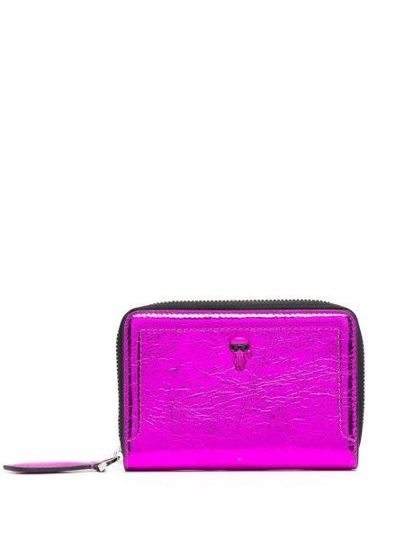 Różowy portfel skórzany Karl Lagerfeld