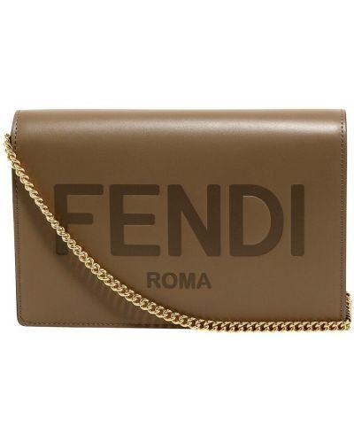 Beżowa torba na ramię Fendi
