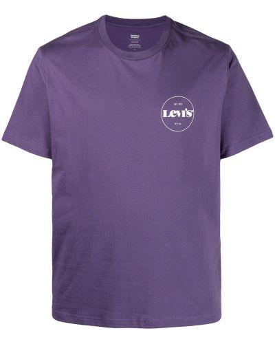 Прямая с рукавами футболка с вырезом Levi's®