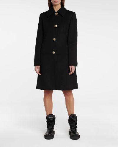 Черное кашемировое пальто Givenchy