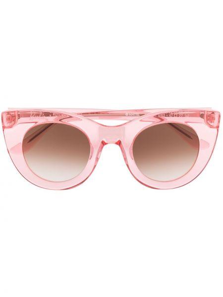 Прямые муслиновые розовые солнцезащитные очки Thierry Lasry