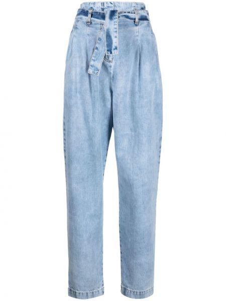 Синие прямые джинсы с карманами Wandering