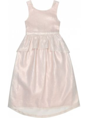Różowa sukienka mini elegancka bawełniana Bonpoint