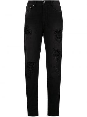 Черные брюки с поясом свободного кроя на молнии Amapô
