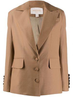 Шерстяной коричневый пиджак с карманами Matériel