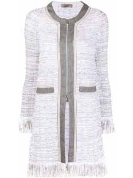 Ватная белая длинная куртка с карманами D.exterior