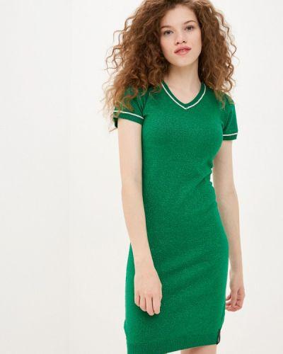 Платье-футболка - зеленое Sh
