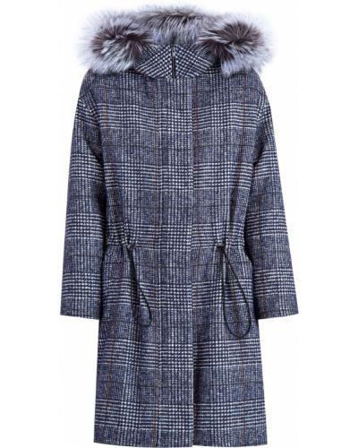 Пальто с капюшоном свободное в полоску Alexander Terekhov