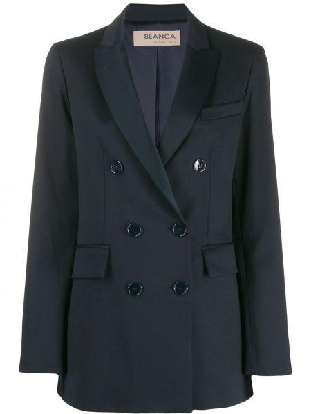 Синий пиджак с манжетами Blanca