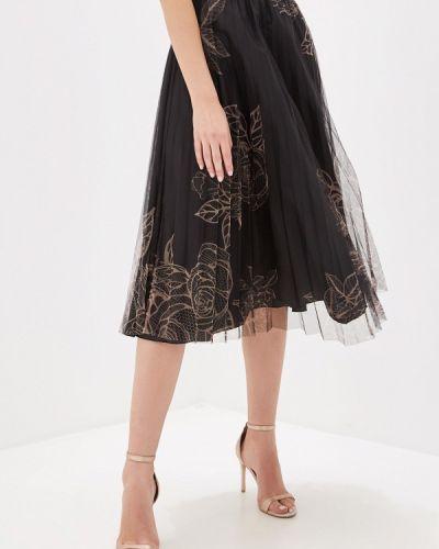 Плиссированная юбка черная итальянский Rinascimento