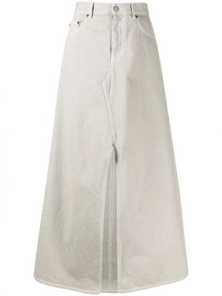 Джинсовая юбка с завышенной талией макси Mm6 Maison Margiela