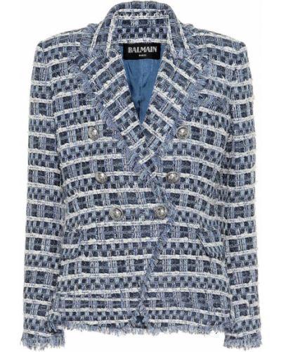 Пиджак твидовый из вискозы Balmain