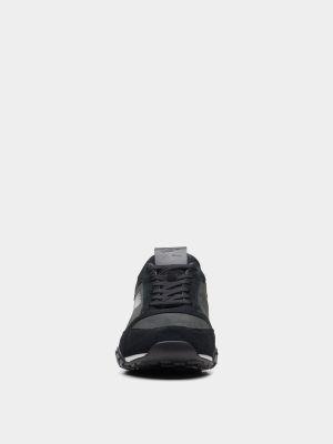 Замшевые кроссовки - черные Clarks