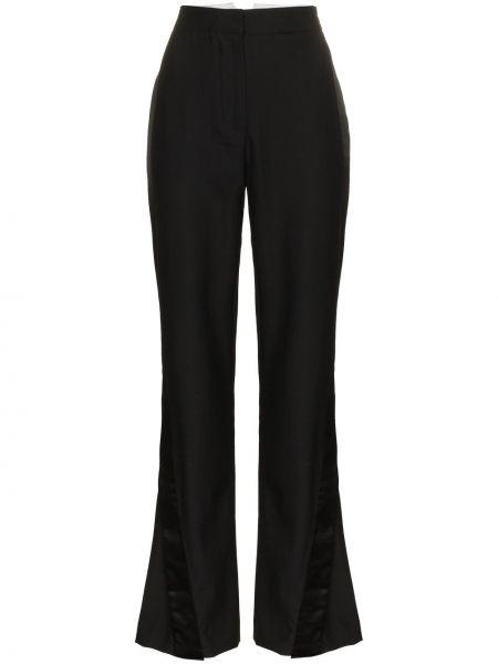 Черные расклешенные брюки Wright Le Chapelain