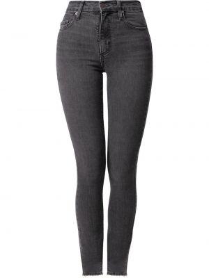 Хлопковые зауженные джинсы классические с завышенной талией Nobody Denim
