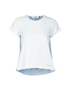 Хлопковая футболка - голубая Blugirl