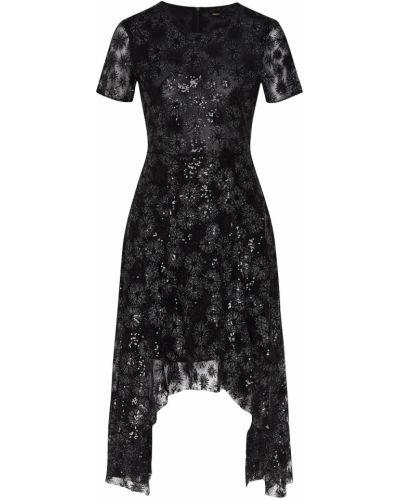 Вечернее платье с пайетками с декоративной отделкой Maje