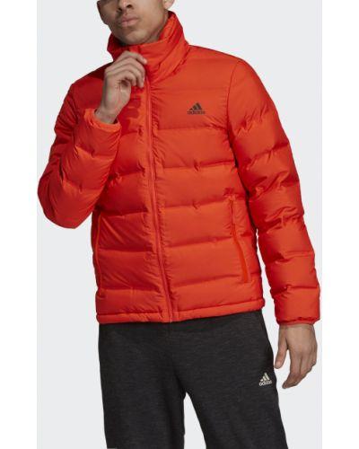 Куртка с нашивками оранжевая Adidas