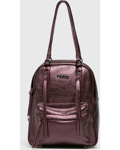 Кожаный рюкзак фиолетовый Nobo
