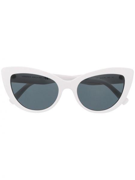 Белые солнцезащитные очки металлические Versace Eyewear